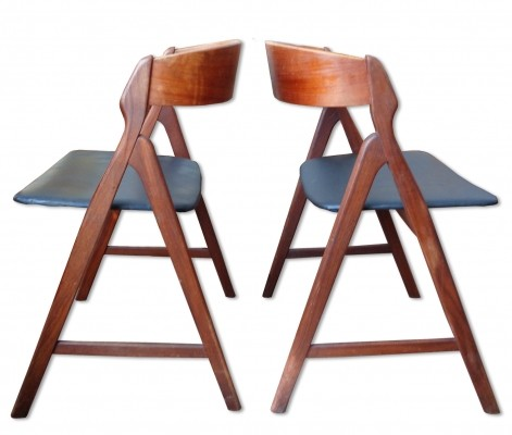 Set of 6 Model 71 dinner chairs from the sixties by Henning Kjærnulf for Boltings Stølenfabrik