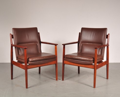 2 arm chairs from the sixties by Arne Vodder for Sibast