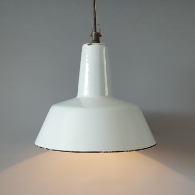 Enamel hanging lamp from the sixties by unknown designer for unknown producer