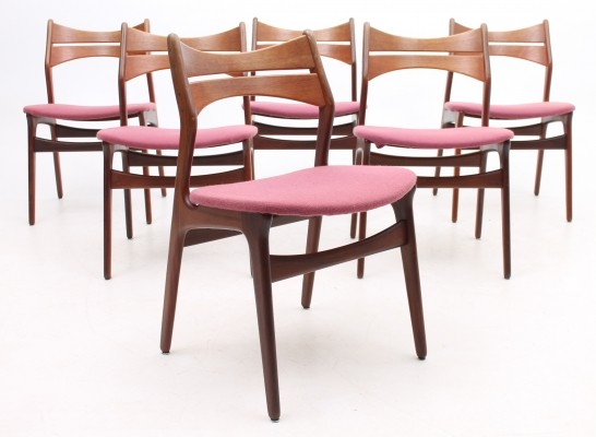 Set of 6 Model 310 dinner chairs from the fifties by Erik Buch for Christiansen Møbelfabrik
