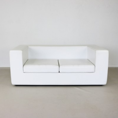 Throw away white two-seater sofa by Willie Landels