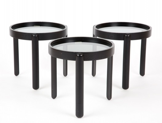 Set of 3 nesting tables from the seventies by unknown designer for Porada Arredi