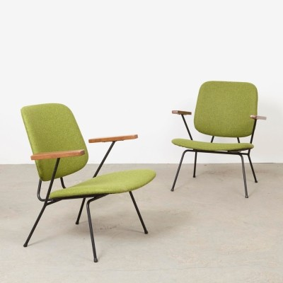 Set of 2 lounge chairs from the fifties by W. Gispen for Kembo