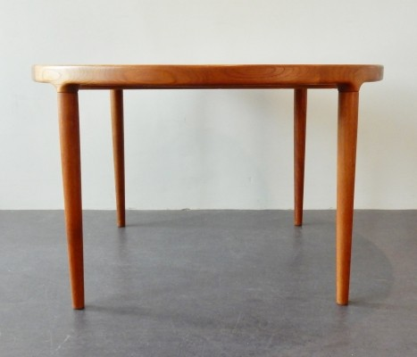 Solid teak extendable dining table from the sixties