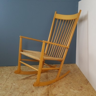 Rocking chair from the seventies by Hans Wegner for Kvist Mobler