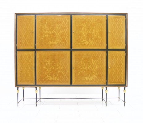Beautiful Highboard with nice details, Italy, 1960s
