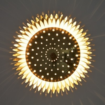 Sunburst light in Brass & Glass by Emil Stejnar for Rupert Nikoll, Austria 1950s