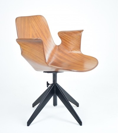 Vittorio Nobili Office Chair for Fratelli Tagliabue, Italy, 1950's