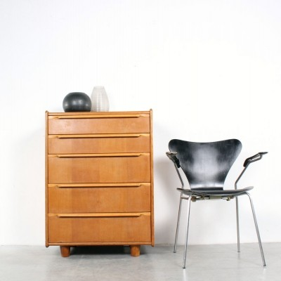 Oak chest of drawers from the fifties by Cees Braakman for Pastoe