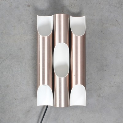 3 x Fuga brass wall lamp by Maija Liisa Komulainen for Raak Amsterdam, 1960s