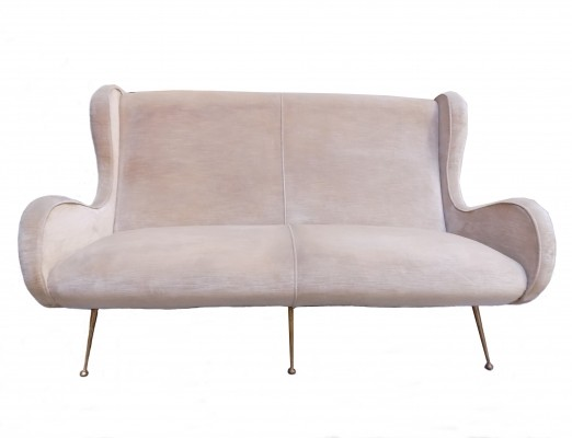 Sofa from the fifties by unknown designer for unknown for Isa arredamenti