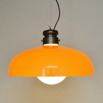 Glass hanging lamp from the seventies by Gino Vistosi for Vistosi