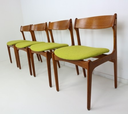 Vintage Dining Chairs by Erik Buck for O. D. Mobler, Set of 4