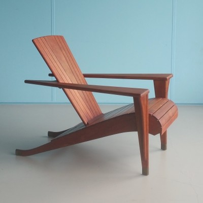 Meditation lounge chair from the nineties by Klaus Wettergren for Teak Farm USA