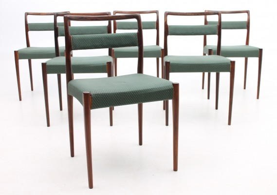Set of 6 OD70 dinner chairs from the sixties by Kai Kristiansen for Oddense Maskinsnedkeri