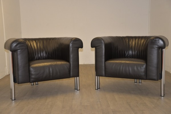Pair of arm chairs by De Sede Design Team for De Sede, 1980s