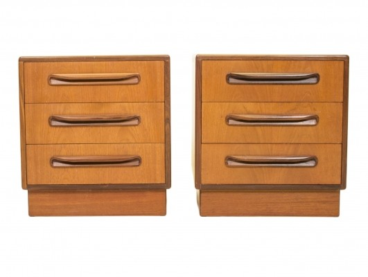 Pair of Fresco chest of drawers by Victor Wilkins for G plan, 1950s