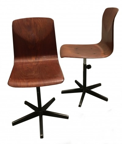 Pair of Vintage Industrial Chairs from Pagholz, 1970s