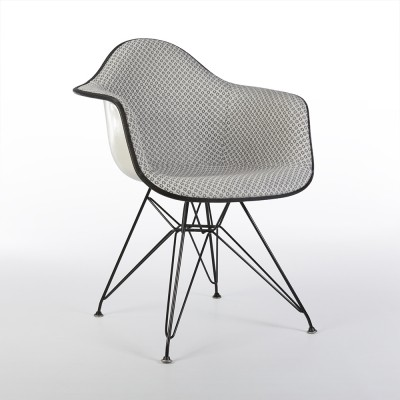 Original Grey Targets Alexander Girard Upholstered Eames DAR Arm Shell Chair