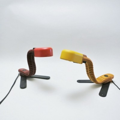 Pair of Cobra Junior desk lamps by Masayuki Kurokawa for Yamagiwa, 1970s