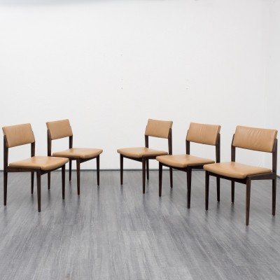 Set of 5 641P dinner chairs from the sixties by unknown designer for Thonet