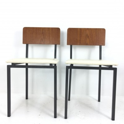 Set of 2 dinner chairs from the sixties by unknown designer for Kuperus
