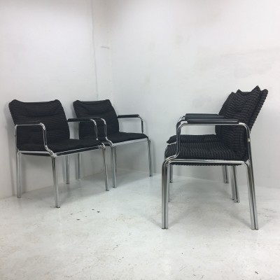 Set of 4 arm chairs from the seventies by unknown designer for unknown producer