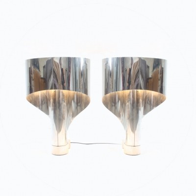 Set of 2 Spinnaker desk lamps from the sixties by Constantino Corsini & Giorgio Wiskemann for Stilnovo