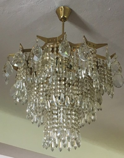 Czech Vintage Crystal Chandelier