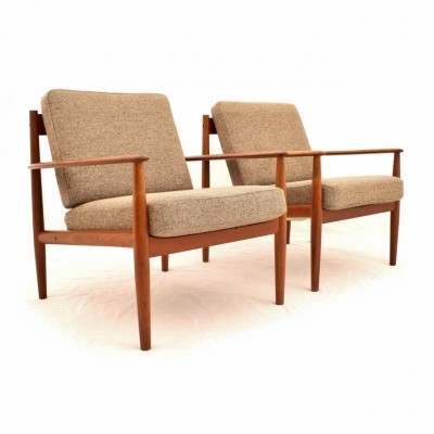 Set of 2 Teak Danish No. 118 armchairs designed by Grete Jalk for France & Søn
