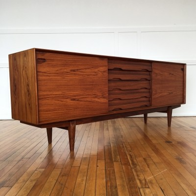 Mid Century Danish Rosewood Sideboard Credenza by Skovby