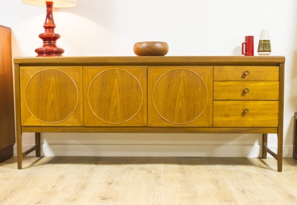 Circles sideboard by Nathan Furniture England, 1960s