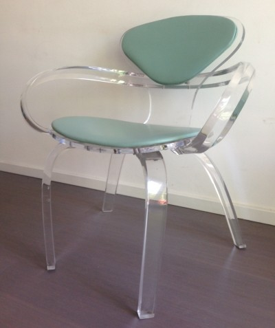 2 x Lucite Cherner arm chair, 1970s