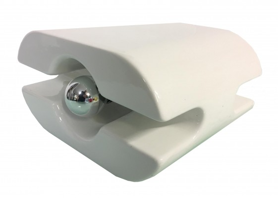 Table lamp from the 1980s in white porcelain