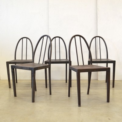 Set of 5 Robert Mallet Stevens dinner chairs, 1920s