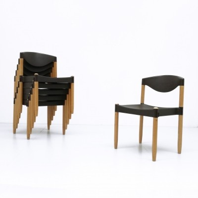 Set of 6 Strax dinner chairs from the seventies by Hartmut Lohmeyer for Casala