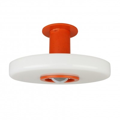 Rare orange white Philips ceiling light, 1960s