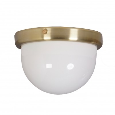 Large Ceiling Lamp of Brass & Perspex, 1970s