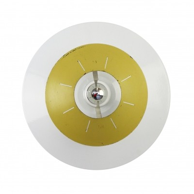 Yellow Space age wall / ceiling light by Louis Kalff for Philips, 1958