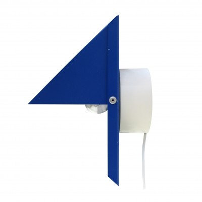Modern design blue wall light by Dijkstra Lampen, 1970s