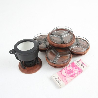 Fondue set from the sixties by unknown designer for Digsmed