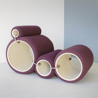 Vintage Joe Colombo Tube Chair for Flexform