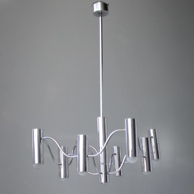 Chrome Chandelier by Sciolari for Boulanger