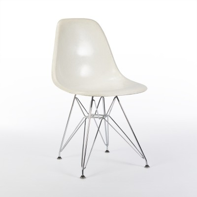 Original Grey Painted Back 3rd Generation Zenith Eames White DSR Side Shell Chair