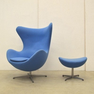 Egg lounge chair from the seventies by Arne Jacobsen for Fritz Hansen
