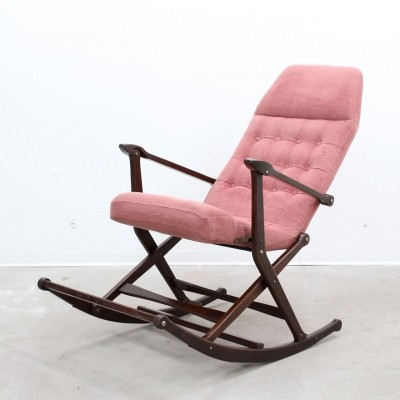 Agnosine rocking chair from the fifties by unknown designer for Fratelli Reguitti