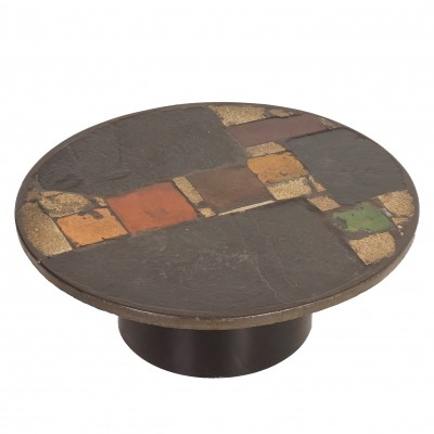 Paul Kingma Coffee Table, 1970s | Round, Multi Colored