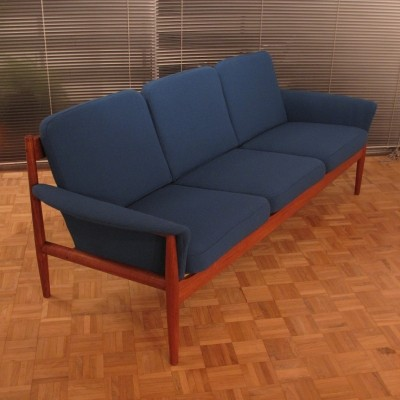 Model 168/3 Three Seat Sofa by Grete Jalk / Charles France