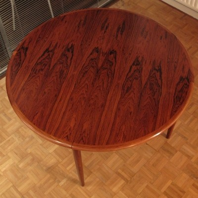 Early Production Niels Moller Model 15 Brazilian Rosewood Extending Dining Table