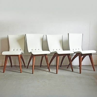 Set of 4 Swing dinner chairs from the fifties by G. van Os for Van Os Culemborg
